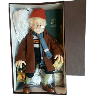 """1996 R. John Wright Walt Disney Pinocchio Geppetto Searches Doll Mint in Box 18"""""""