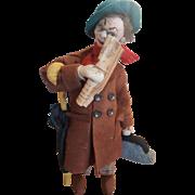 """Vintage Spain 1950's Klumpe 10 1/2"""" Traveler Felt Doll"""