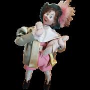 "Vintage 1950's Spain Klumpe 11"" Character Felt Doll Eating Duck"