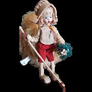 "Vintage 1950's  Spain Klumpe Hiking Girl 10"" Doll"