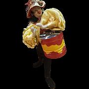 "Vintage 1950's Spain Klumpe Salsa Drummer 10 1/2"" Doll"