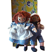 Vintage 2004 R. John Wright Raggedy Ann & Andy Forever Friends Matched Sets
