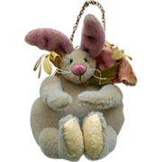 "Earlier OOAK Heidi Steiner (Steiner Bears) Whimsical ""Flora"" Rabbit Bunny Coin Purse (Doll or Teddy Bear Size)"