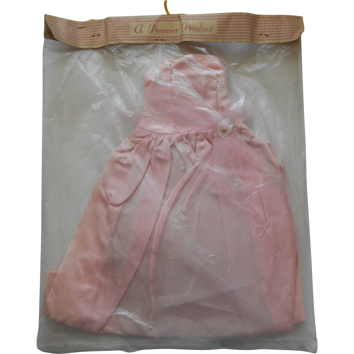 """MIP Vintage 1950 PREMIER Doll Pink Taffeta / Tulle Gown for 18"""" High Heel Doll ~ MISS REVLON, DOLLIKINS and More"""
