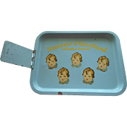 HTF 1935 Dionne Quintuplets QUINTLAND Metal Souvenir Tray ~ Drive In or Food Service