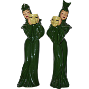 COMEDY and TRAGEDY Figurines Ceramic Art Studios (CAS) Madison WI Betty Harrington