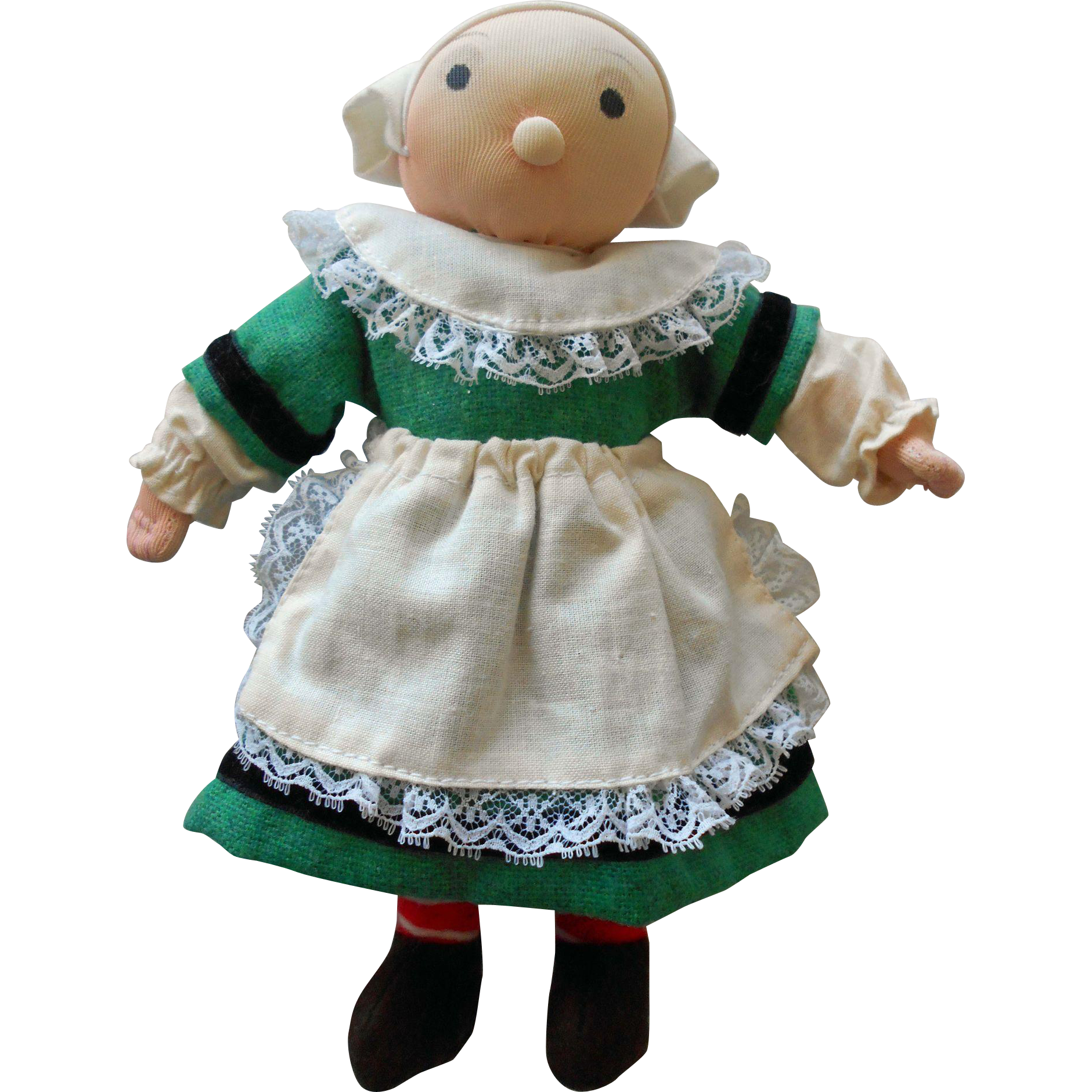 "Vintage 1960-70's 8"" French Bécassine Cloth Doll from France"