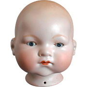 "Lg 15 3/4"" Circ Life-size German Bisque Armand Marseille A.M. 341/8 DREAM BABY Doll Head"