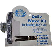 1950's DOLLY WAVE KIT for Dressing Doll Hair ~ Lady Mervin Wave Clip & Bobbie Smith Hair Pins Mint on Card