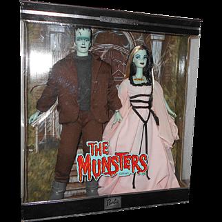 Limited Edition Mattel 2001 THE MUNSTERS (Barbie & Ken) Pop Culture Set MIB