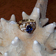 Ceylon Sapphire and Diamond Ring by JB Star