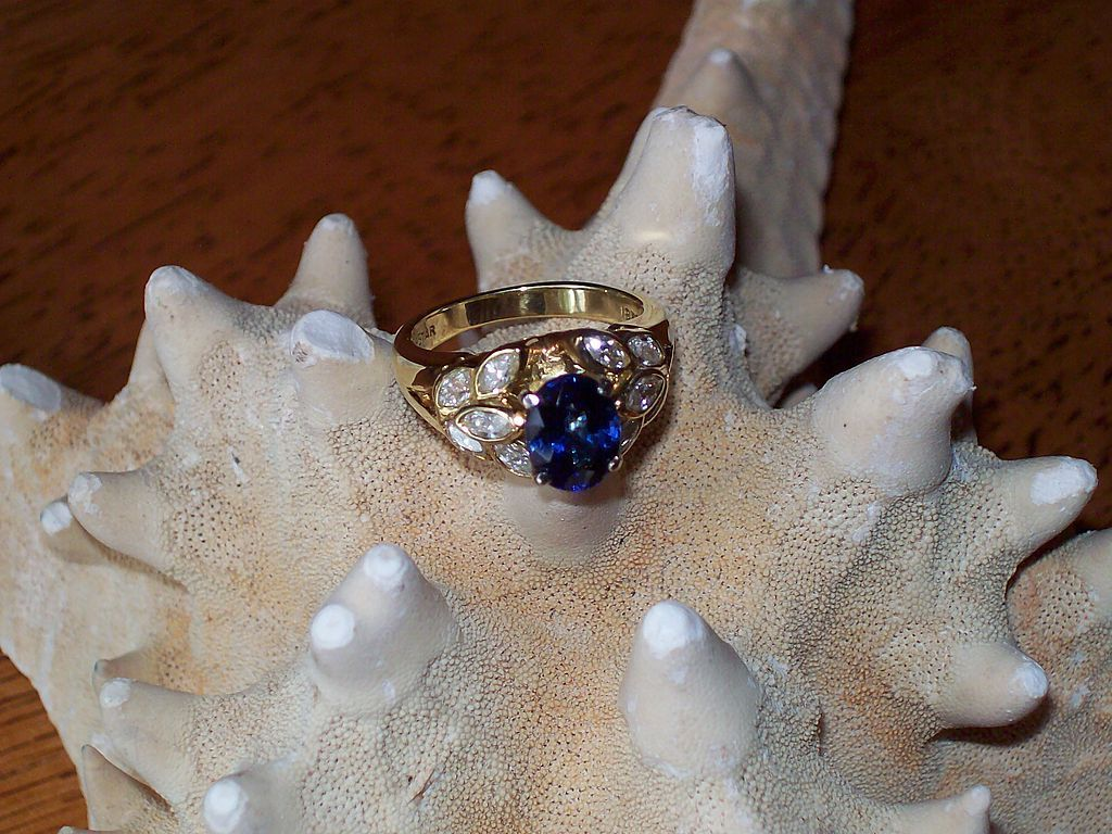 Ceylon Sapphire and Diamond Ring by JB Star