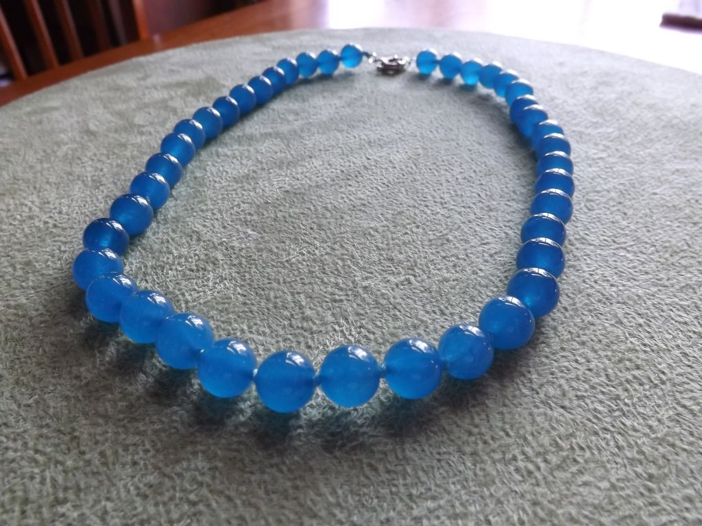Natural Apatite Beaded Necklace