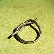 Vintage Mexican Sterling Silver Twisted Knot Pin