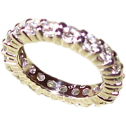3.57 Carat Moissonite Eternity Band in 14 karat White Gold