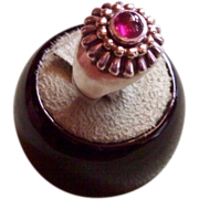 LAGOS Caviar 18 karat and Sterling Silver Pink Tourmaline Ring