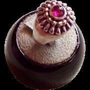 LAGOS Caviar 18 karat and Sterling Silver Pink Tourmaline Ring